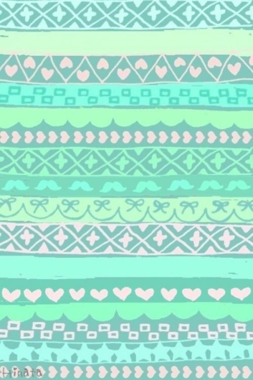 Pretty Pastel Tribal IPhone Wallpaper