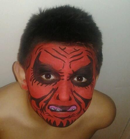 devil facepaint