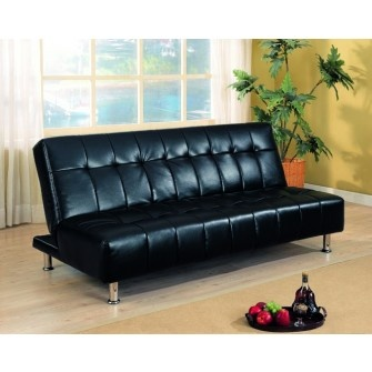 coaster futon sofa bed with metal legs black vinyl black vinyl futon sofa bed with metal legs sofa dimensions x x bed