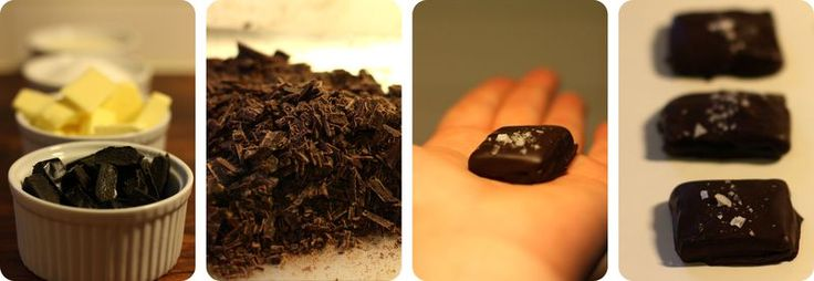 made by mary - Chokladdoppad lakritskola med havssalt - Chocolate Dipped Liquorice Butter Caramels