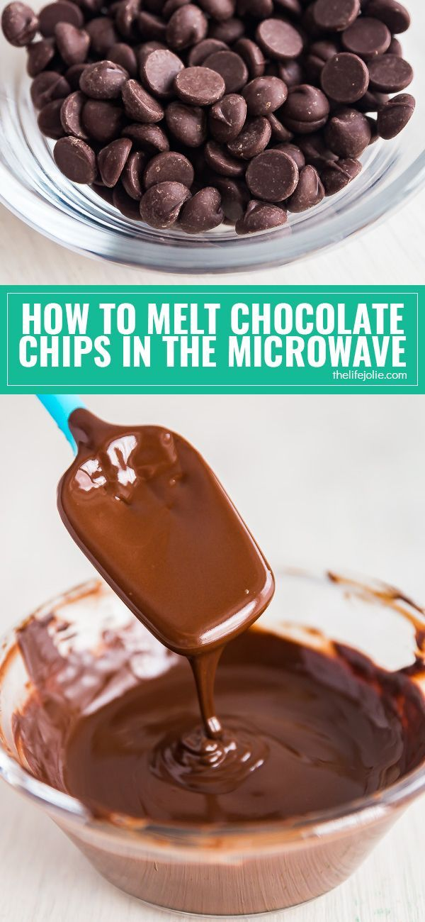 Melting chocolate can be tricky but I'm going to show you a few simple steps for how to melt chocolate chips in the microwave without all the hassle of a double boiler! via @thelifejolie