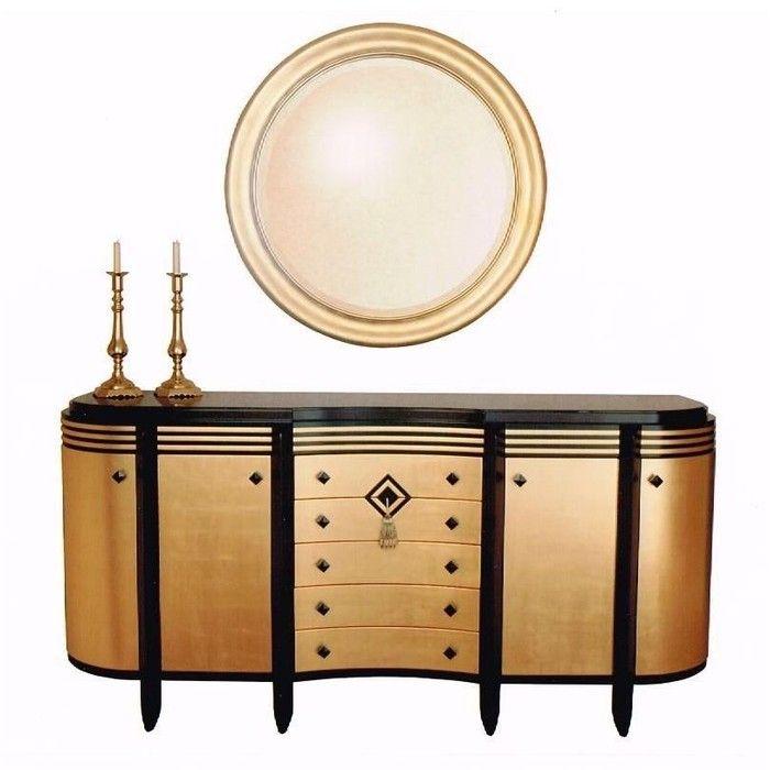 Art Deco Furniture | Lawrence J. Perna, Fine Furniture Art Deco Sideboard    Case