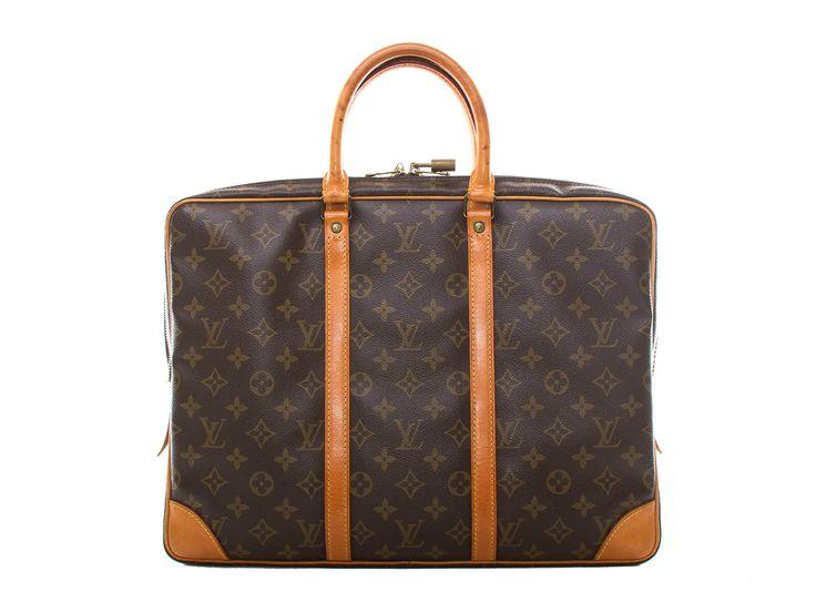 Authentic vintage Louis Vuitton monogram canvas Porte-documents voyage bag