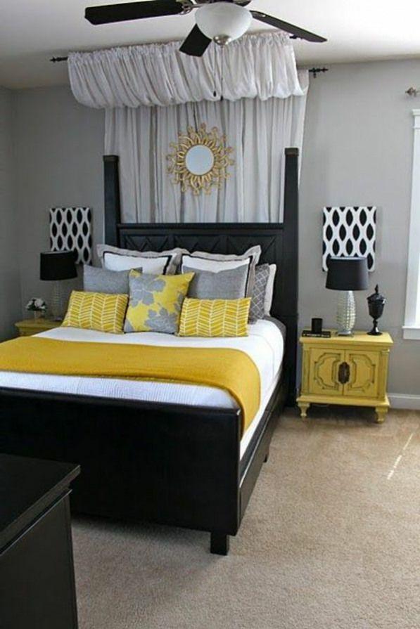 Jaune Noire Et Blanc Fort Couleurs Bedroomfurniture Luxury