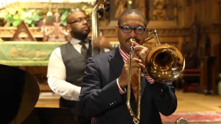 """""""Autumn Leaves"""" Jazz Masters Delfeayo (tb), Ellis (p)and Jason Marsalis(dr) perform selections from Delfeayo's upcoming release """"The Last Southern Gentlemen"""" David Pulphus on bass"""
