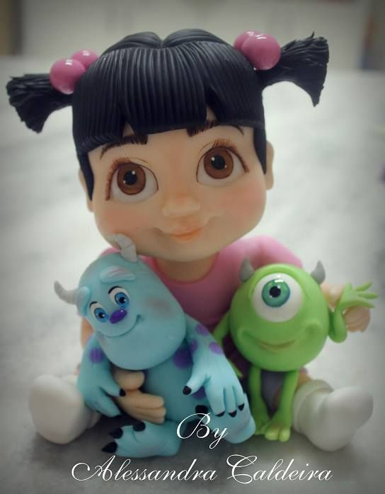 Alessandra Caldeira. Monsters Inc. Boo, Sulley, Mike! Adorable.