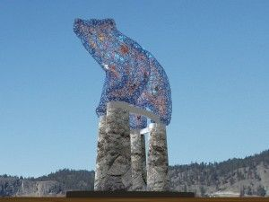 The Bear statue at Stuart Park in Kelowna.