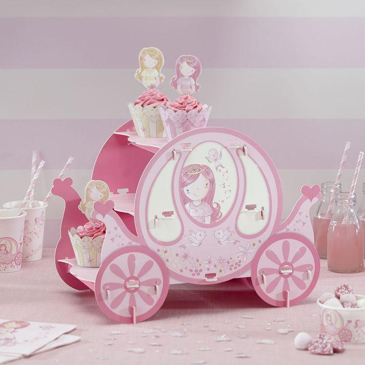 Stand carroza princesa rosa. Ideal para mesas dulces/candy bar