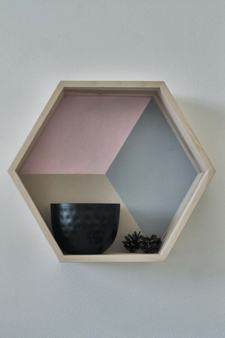 Hexagon shelf in colour