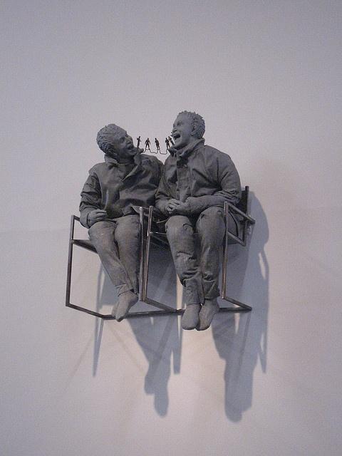 JUAN MUNOZ http://www.widewalls.ch/artist/juan-munoz/ #contemporary #art #installation #sculpture
