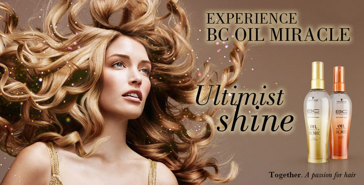 Schwarzkopf Professional BC hairtherapy Oil Miracle Oil Mist Banner.