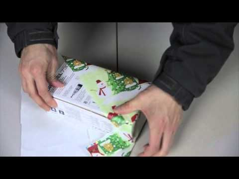 Usually wrapping presents is time-consuming and tedious, but this quick technique that's popular in Japan only requires three folds and three pieces of tape.   - HouseBeautiful.com