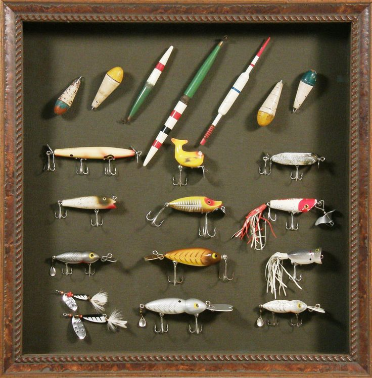 A #customframed collection of vintage fishing lures - a perfect gift for the fisherman in your life!