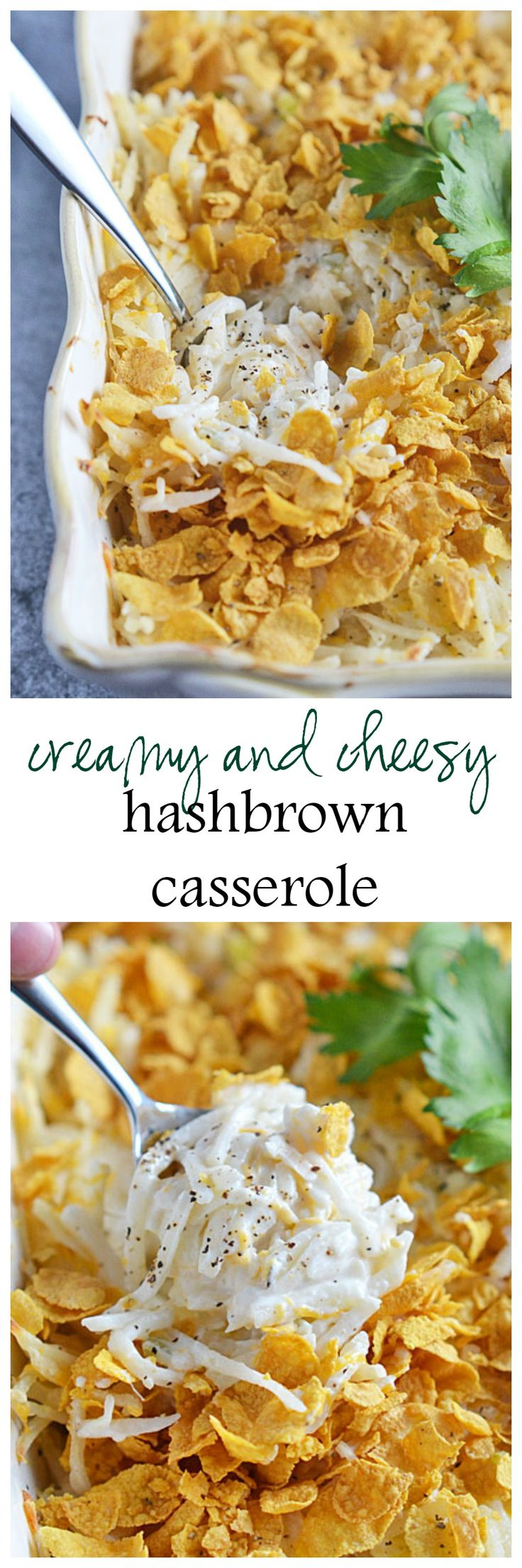 Make a traditional Creamy and Cheesy Hashbrown Casserole extra special by replacing the canned condensed celery soup with an easy homemade version!   Kitchen Meets Girl