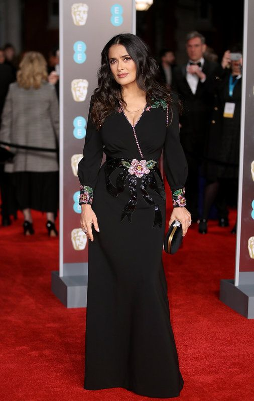 (Mike Marsland via Getty Images) Photos From The Baftas Red Carpet: LONDON, ENGLAND - FEBRUARY 18: Salma Hayek attends the EE British Academy Film Awards (BAFTAs) held at Royal Albert Hall on February 18, 2018 in London, England