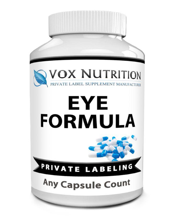 private label eye formula vitamin supplement