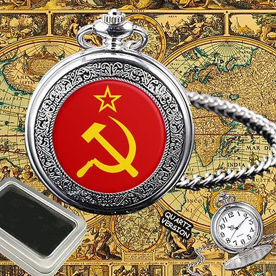 #Soviet union flag  #pocket #watch gift engraving,  View more on the LINK: http://www.zeppy.io/product/gb/2/322315491683/