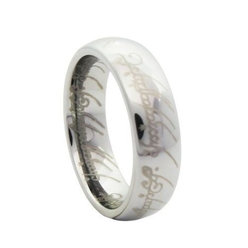 Lord of the Rings Style High Polished Tungsten Carbide One Ring Silver Tone Anniversary/engagement/wedding Band (bestseller)