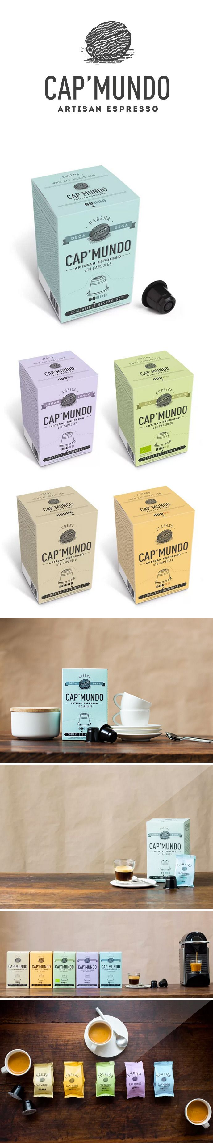Capmundo Artisan Coffee by Misssnow. Let's have a cup #packaging PD