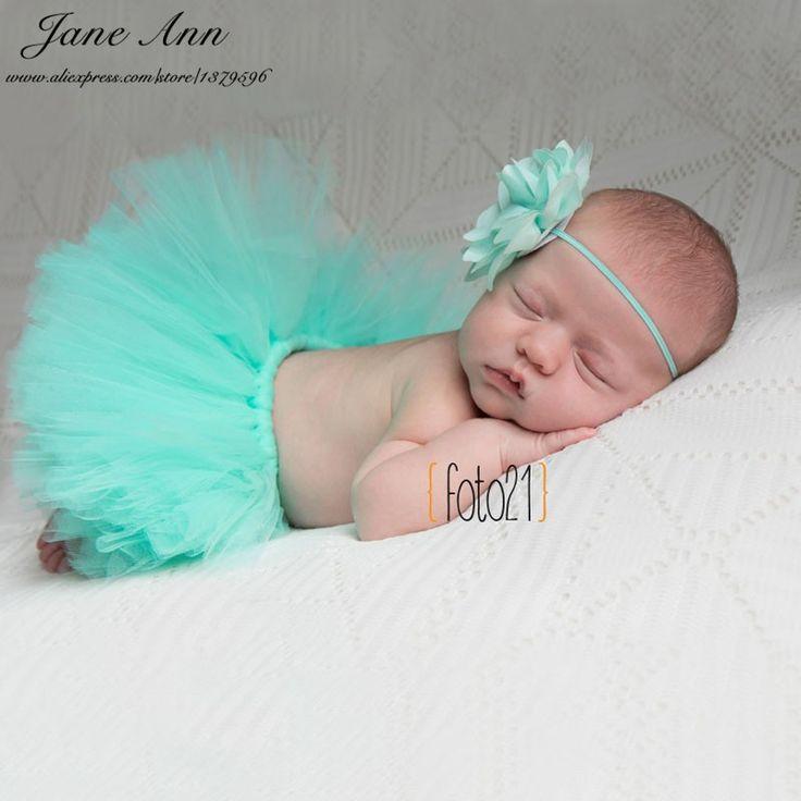 Newborn fotografía atrezzo bebé sesión de fotos de estudio girls floral venda + tutu falda conjunto atrezo fotografia bebe baby shower regalo
