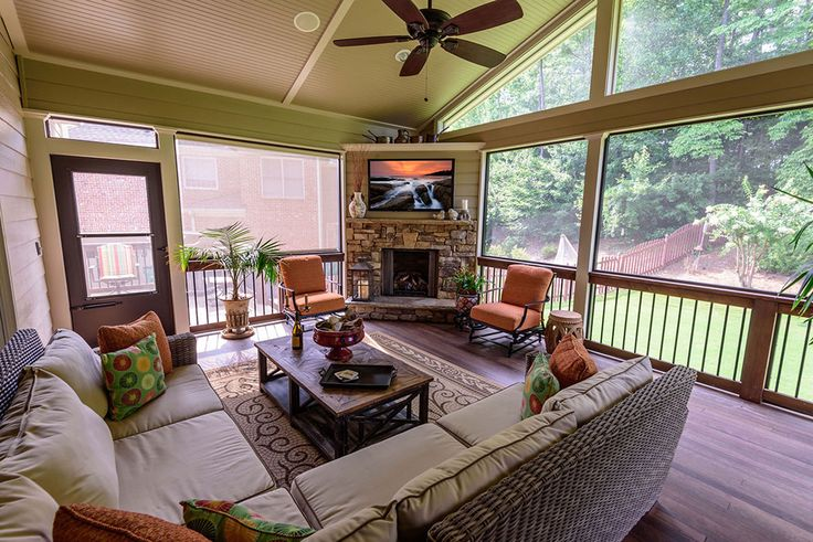 Add A Screen Porch with Fireplace-Alpharetta | AD&B