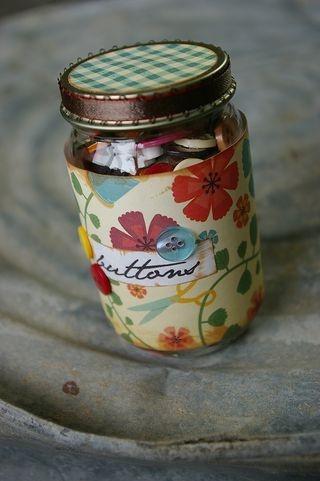 reuse a glass baby food jar