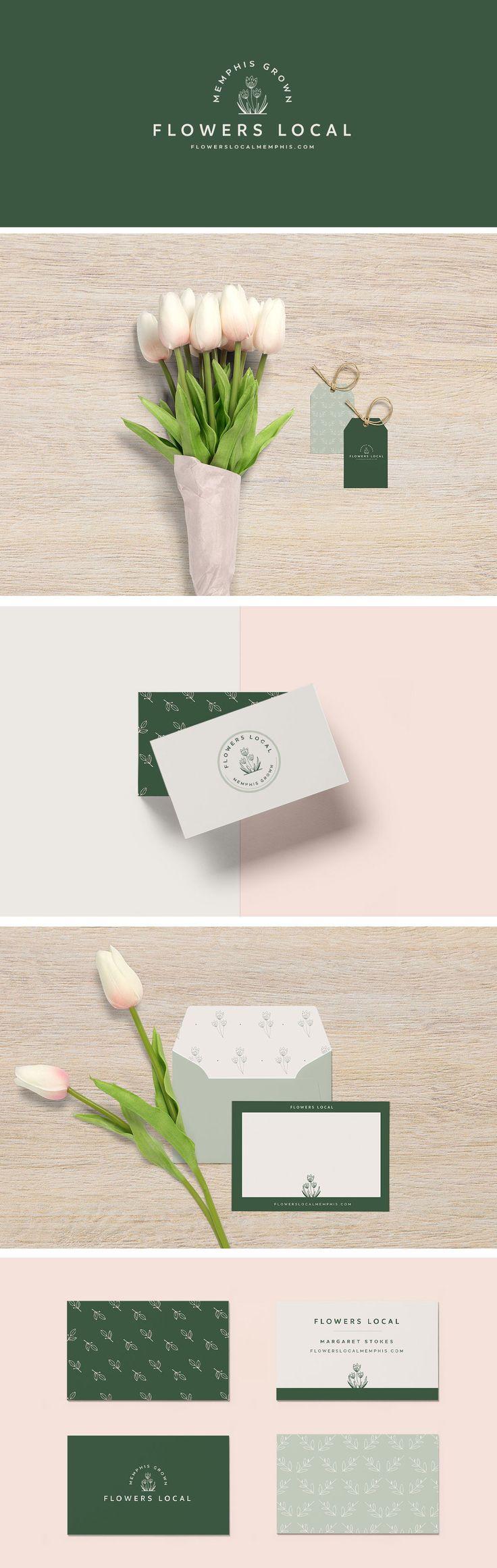 Flowers Local Branding Design- graphic design, branding, logo design, feminine design, web design, blog design, #graphicdesign, #designinspiration, #branding, #logodesign #brandingidentity