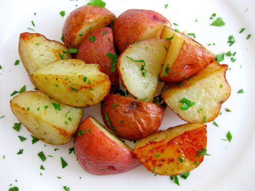Parmesan Roasted Potatoes (serves 4) 12 small red skinned potatoes ...