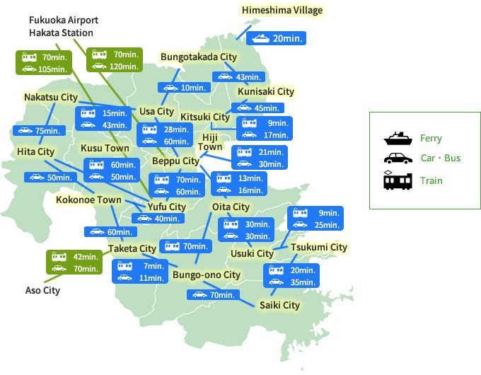 Recommended Tourist Routes | Oita Prefecture's Official Sightseeing Information Site