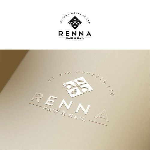 designs design a high end organic zen look for renna hair and nail salon