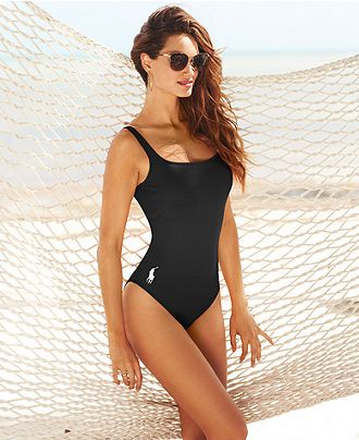 Ralph Lauren Blue Label Scoop-Neck Logo One-Piece - Swimwear - Women -