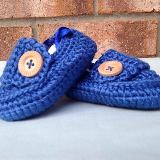 Handmade Crocheted Baby Loafers/Slippers/Shoes on Carousell