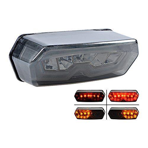 Smoke Integrated LED Turn Signal Brake Tail Light for 14-16 Honda Grom/MSX 125