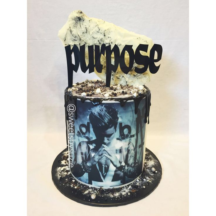 Justin Bieber  birthday cake made by SweetsBySuzie in Melbourne