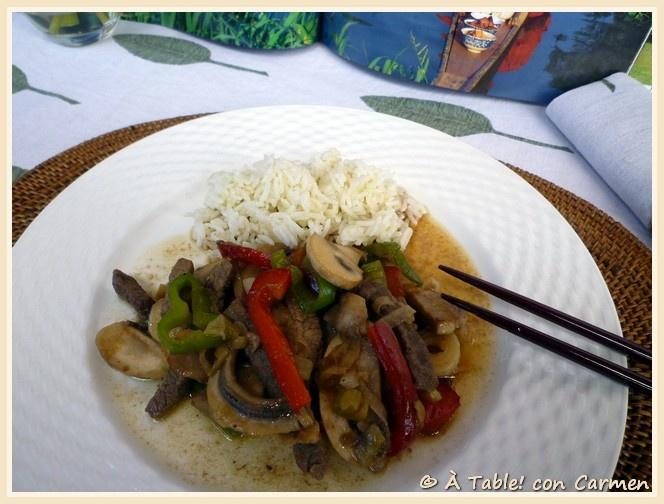 Ternera con Verduras Estilo Thai
