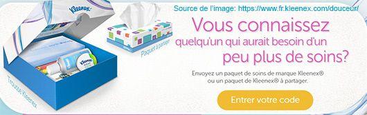 Paquet à partager Kleenex - Gratuit - Échantillons gratuits Québec