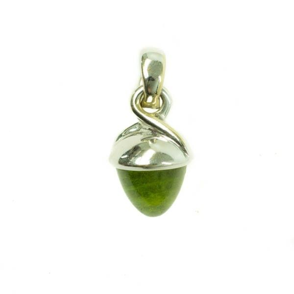 Mikado Bouquet pendant by Tamara Comollie in whitegold with a Peridot