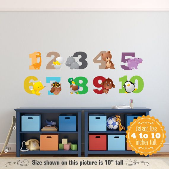 Animals Alphabet NUMBERS Wall Decals Learning Set By KiddyWalls Part 64
