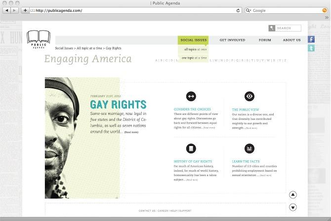 Public Agenda / web design  - natarcita