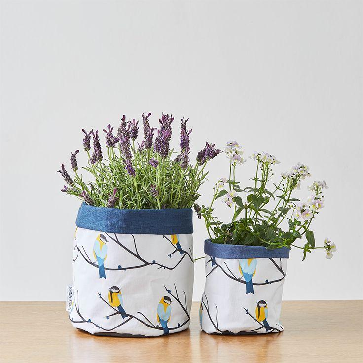 Lorna Syson Designer Home Interior Accessories | Lorna Syson | Fabric Plant  Pot Holder Or Storage