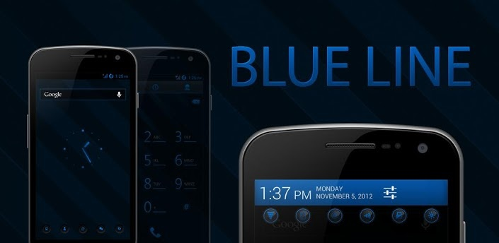 BLUE LINE CM10 AOKP THEME v1.0 apk Requirements 2.3 and