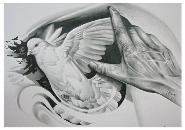 Tattoos Expert Dove Designs And Meaning... Love the dove in this one