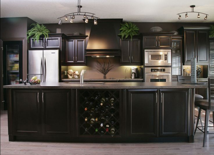 lovely Espresso Color Cabinet For Kitchen #3: 17 Best ideas about Espresso Kitchen Cabinets on Pinterest | Espresso  cabinets, Espresso kitchen and Kitchens with dark cabinets