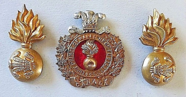 1st Prince of Wales Regt. Fusiliers Canada Cap and Collar Badges