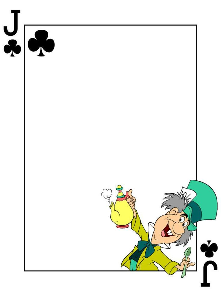 "Mad Hatter - Jack of Clubs - Playing Card - Project Life Journal Card - Scrapbooking ~~~~~~~~~ Size: 3x4"" @ 300 dpi. This card is **Personal use only - NOT for sale/resale** Logo/clipart belongs to Disney. Font is Card Characters http://haroldsfonts.com/portfolio/card-characters/ *** Click through to photobucket for more versions of this card ***"