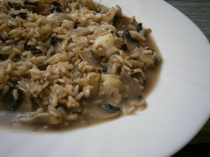 Rychlé: Žampiónové rizoto z tmavé rýže