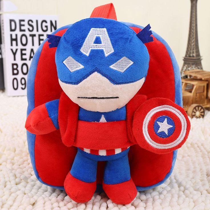 Marvel Comics Hero CAPTAIN AMERICA Bag Kids Schoolbag Preschool Backpack AB10