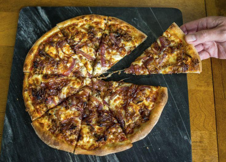 BBQ Pork Pizza Recipe - a great option for leftover pork