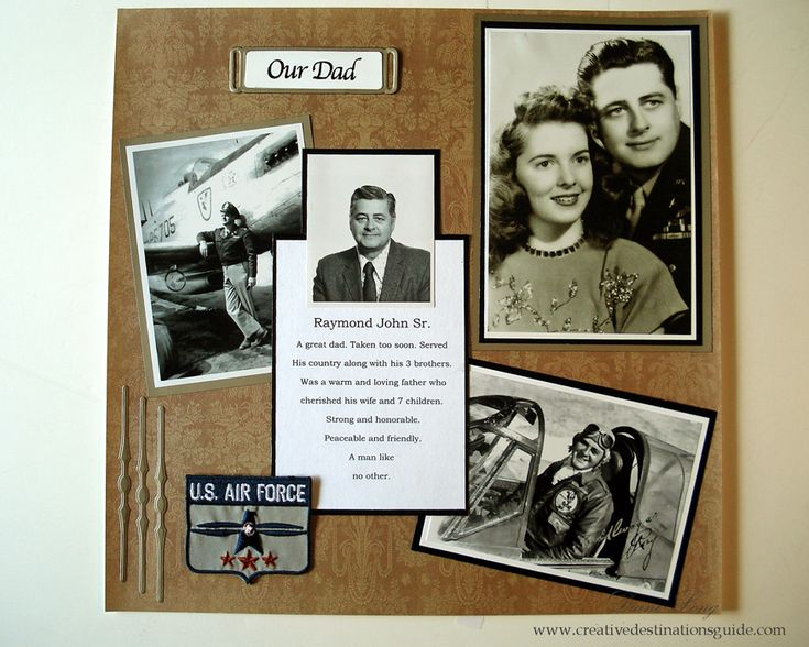 Our Dad Scrapbook Layout. Make a tribute to your dad for Fathers Day