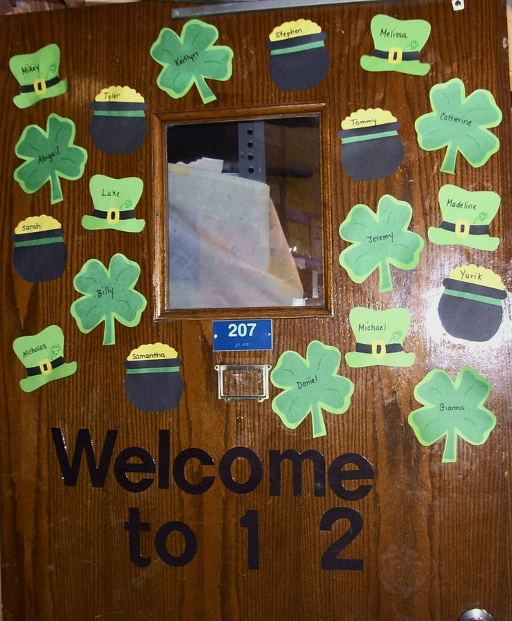 Pin by stef sowa on ideas for your classroom pinterest for Decoration saint patrick